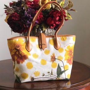 Dooney & Bourke Dahlia Floral Canvas Tote